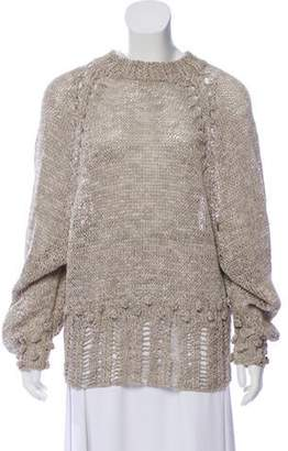 BEIGE Spencer Vladimir Silk Crew Neck Sweater Spencer Vladimir Silk Crew Neck Sweater