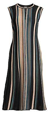 M Missoni Women's Striped Sleeveless Midi Dress