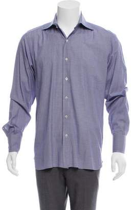 Tom Ford Plaid Dress Shirt purple Plaid Dress Shirt