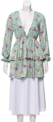 Majorelle Printed Ruffled-Accented Tunic