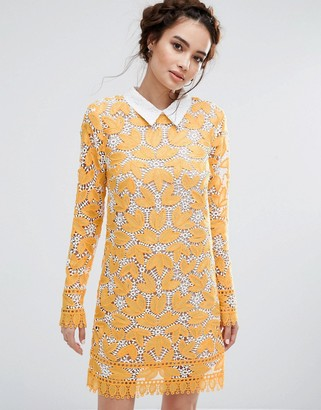 Endless Rose Long Sleeved Lace Mini Dress $143 thestylecure.com