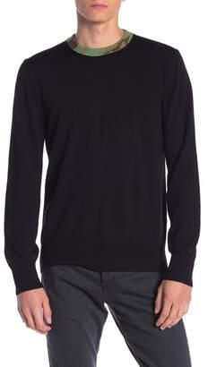 Rag & Bone Camo Neck Merino Wool Blend Sweater