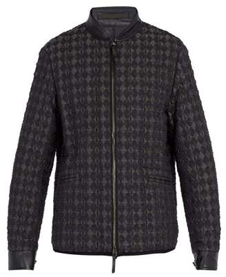 Giorgio Armani - Diamond Quilted Bomber Jacket - Mens - Black