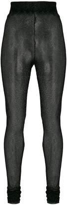 Philosophy di Lorenzo Serafini lamé fishnet high waist leggings