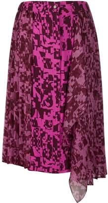 Iceberg pleated geometric-print skirt
