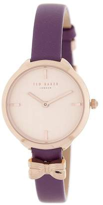 Ted Baker Women's Elana Leather Strap Watch, 30mm