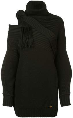 Versace asymmetric knitted sweater
