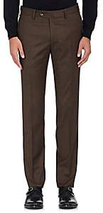 Pt01 Men's Wool Super-Slim Trousers-Brown