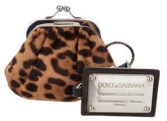 Dolce & GabbanaDolce & Gabbana Ponyhair Coin Purse