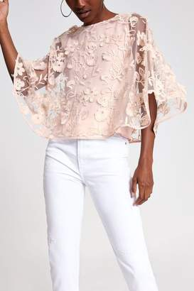 River Island Womens Pink Special Cape Top - Pink