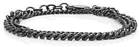 Loren Stewart Men's Sterling Silver Mixed-Chain Wrap Bracelet-Silver