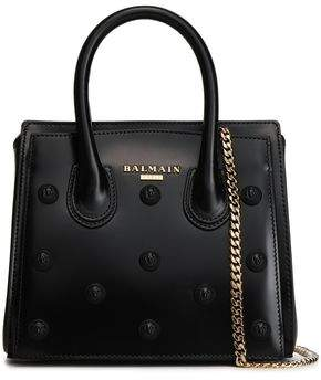 Balmain Appliqued Leather Tote