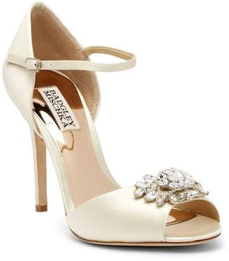 Badgley Mischka Bandera Embellished Ankle Strap Pump