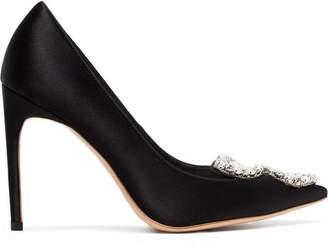 Sophia Webster black bibi butterfly 100 pearl embellished pumps