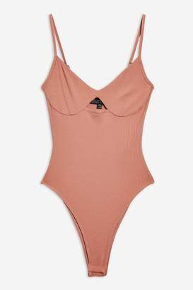 Topshop Cut Out Ribbed Body