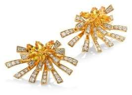 Hueb Mirage Diamond& Yellow Sapphire Stud& Ear Jacket Set