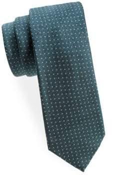 Saks Fifth Avenue Pin Dot Silk Tie