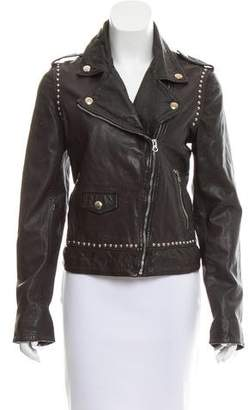 Pinko Leather Studded Jacket