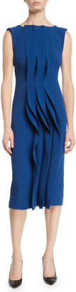 Jason Wu Sleeveless Stretch-Cady Ruched Cocktail Dress
