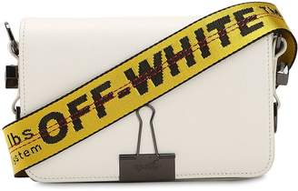Off-White Off White Mini Binder Clip Leather Shoulder Bag