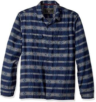 True Grit Men's Double Cloth Tribal Shirt Jacket with Pockets
