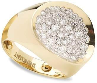 Antonini 18K Yellow Gold Matera Small Pavé Silvermist Diamond Ring