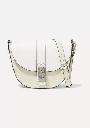 Proenza Schouler Ps11 Saddle Medium Two-tone Leather Shoulder Bag - White