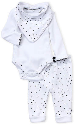 Absorba Newborn Girls) 3-Piece White Hearts Bodysuit & Pants Set