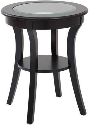 Osp Designs OSP Designs Harper Glass Top Round End Table