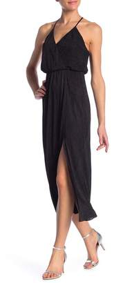 Lush Crinkled Surplice V-Neck Dress