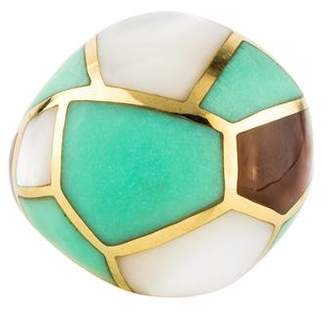 Ippolita 18K RockCandy Mother of Pearl & Chrysoprase Dome Ring