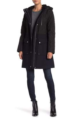 Lucky Brand Mixed Media Coat