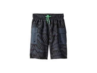 Stella McCartney Oswald Zigzag Banded Waist Swim Shorts (Toddler/Little Kids/Big Kids)