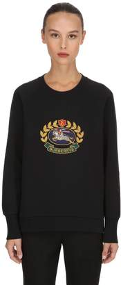 Burberry Ravi Embroidery Cotton Jersey Sweatshirt