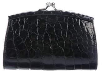c8f7853df325 Judith Leiber Crocodile Kiss-Lock Mini Bag