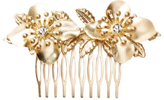 Cara Accessories Crystal Detail Floral Hair Comb $26 thestylecure.com