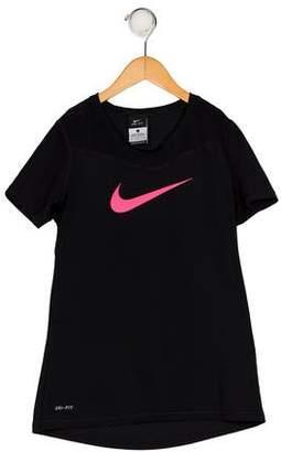Nike Girls' Printed Short Sleeve Top