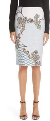 Yigal Azrouel Paisley Print Scuba Skirt