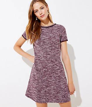LOFT Tall Boucle Shift Dress
