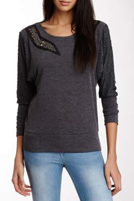 Panitti Lace Dolman Sleeve Pullover Sweater