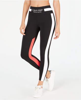 Calvin Klein 7/8 Colorblocked High-Waist Leggings