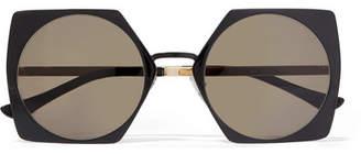 Marni Oversized Square-frame Acetate And Gold-tone Sunglasses - Black