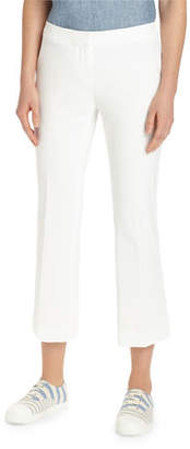 Lafayette 148 New York Manhattan Cropped Solid Flare Pants