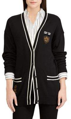 Lauren Ralph Lauren V-Neck Button-Front Cardigan