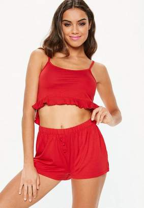 Missguided Frill Cami Shorts Pyjama Set