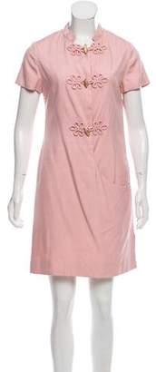 Bill Blass Short Sleeve Mini Dress