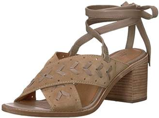 Frye Women's Bianca Woven Perf Ankle Strap Heeled Sandal