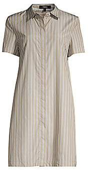 Theory Women's Striped Short-Sleeve Shirtdress