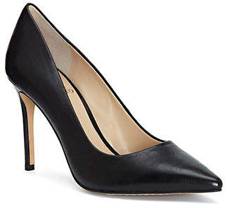 Vince Camuto Leather Point Toe Slip-On Pumps