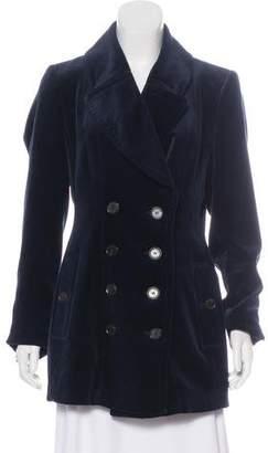 Burberry Velvet Double-Breasted Coat